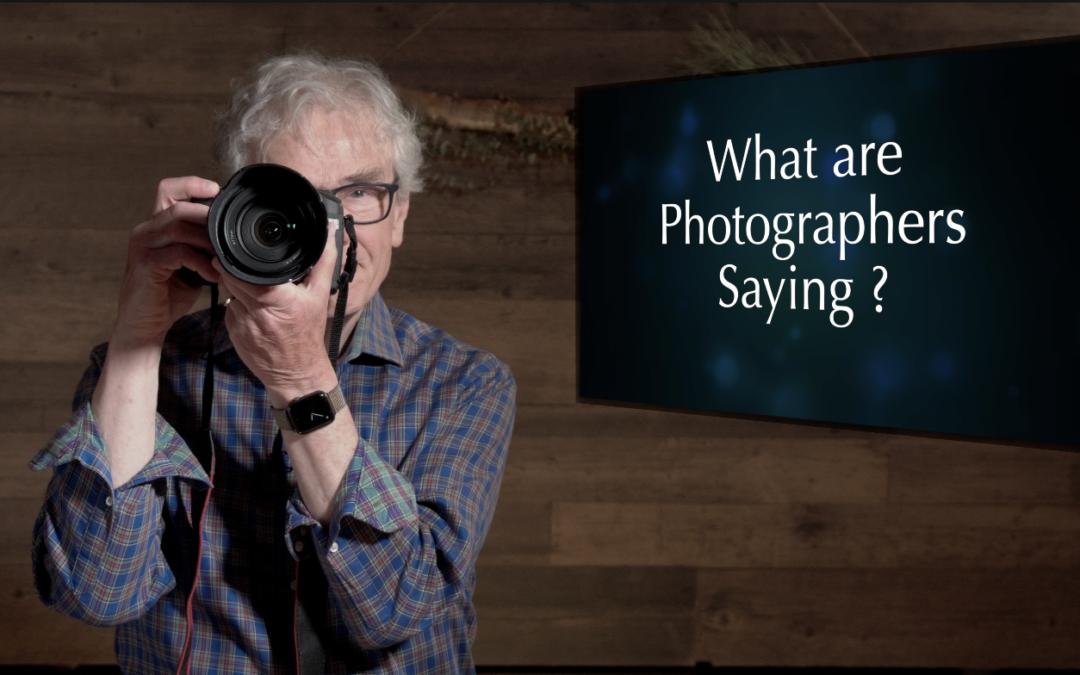 What language do photographers speak? One: Hardware